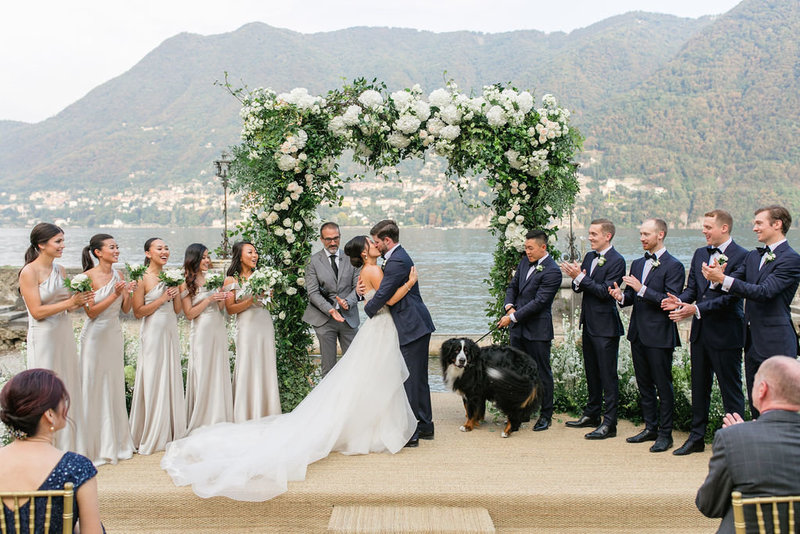 lake como wedding ceremony at villa erba