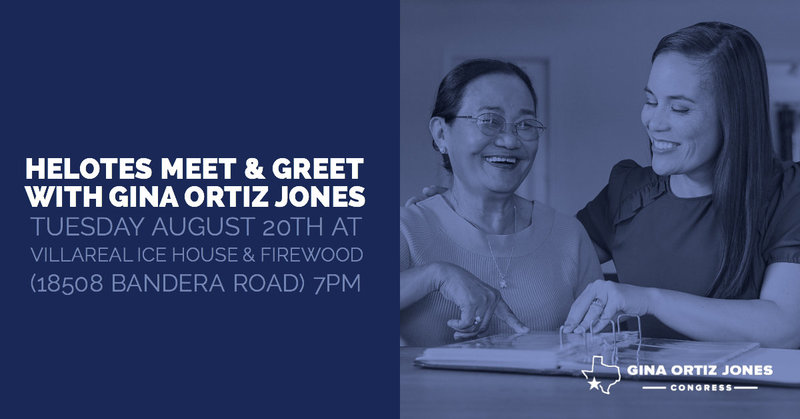 Meet and Greet ad for Gina Ortiz Jones