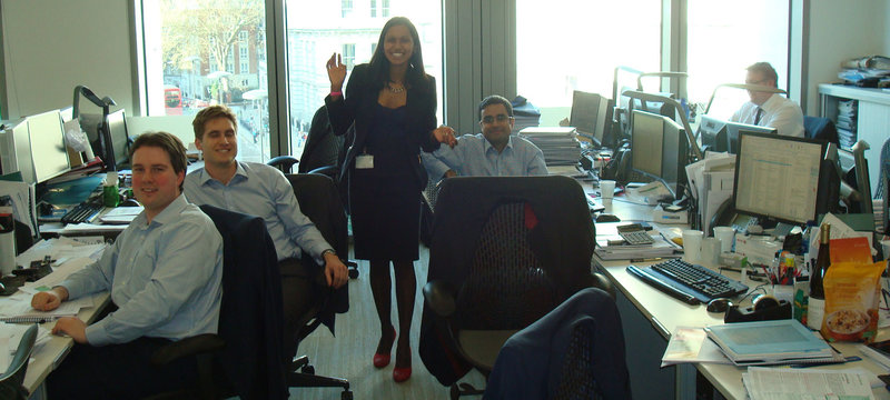 old picture of investment banking office in 2013