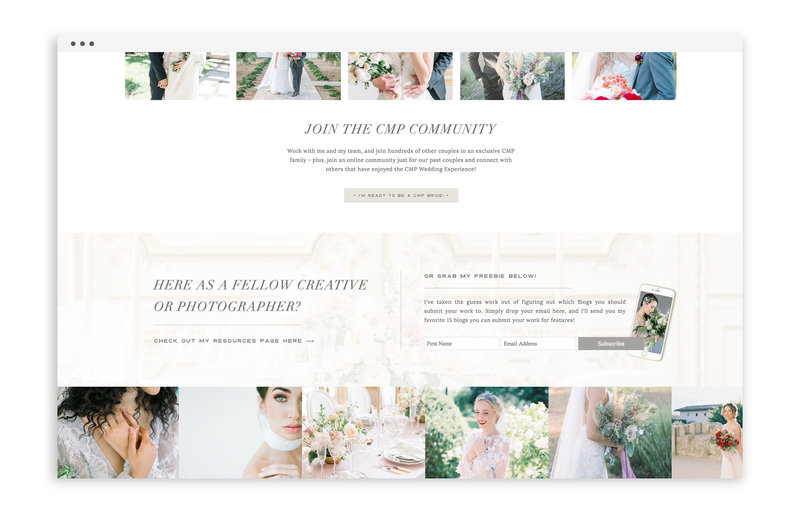 Carrie McGuire Photography - Custom Brand and Showit Web Design Website by With Grace and Gold - 13