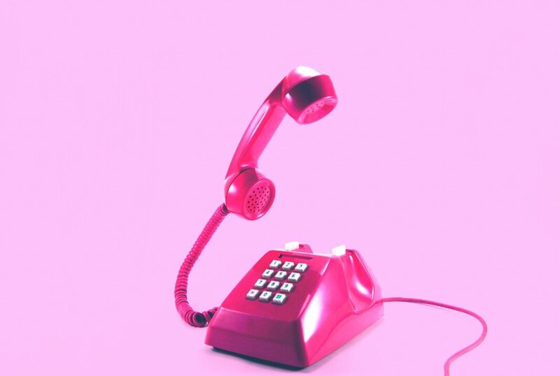 pink telephone - edited