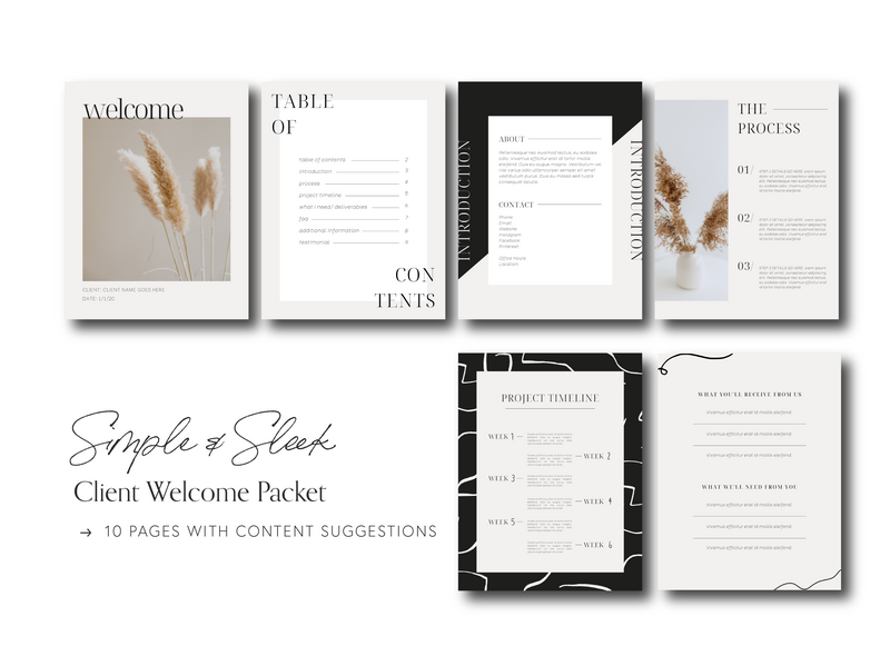 Canva Welcome Packet Template