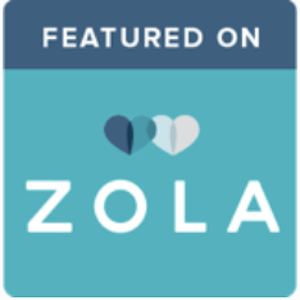 Zola Featured Wedding Badge