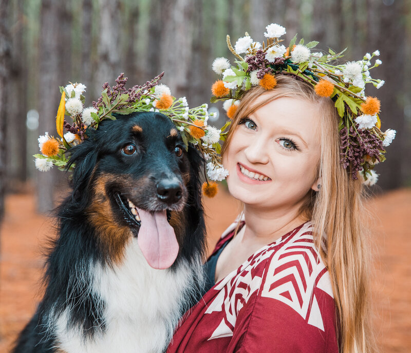 Lily the australian sheperd and I Jessica shaw photography