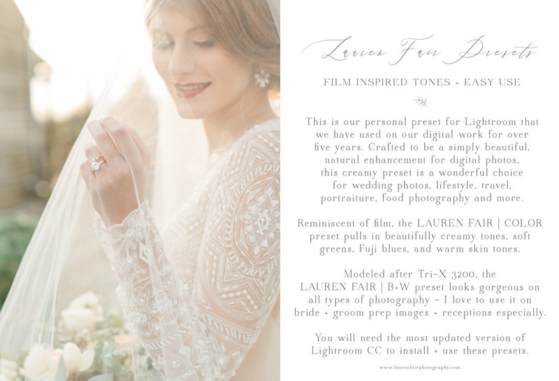 Lauren Fair Presets Information