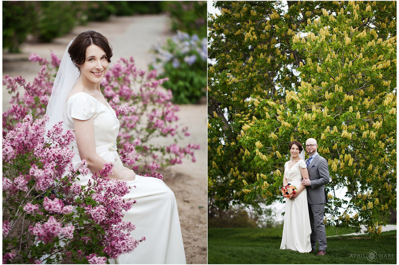 Spring Blossom Wedding Photography at Denver Museum of Nature and Science