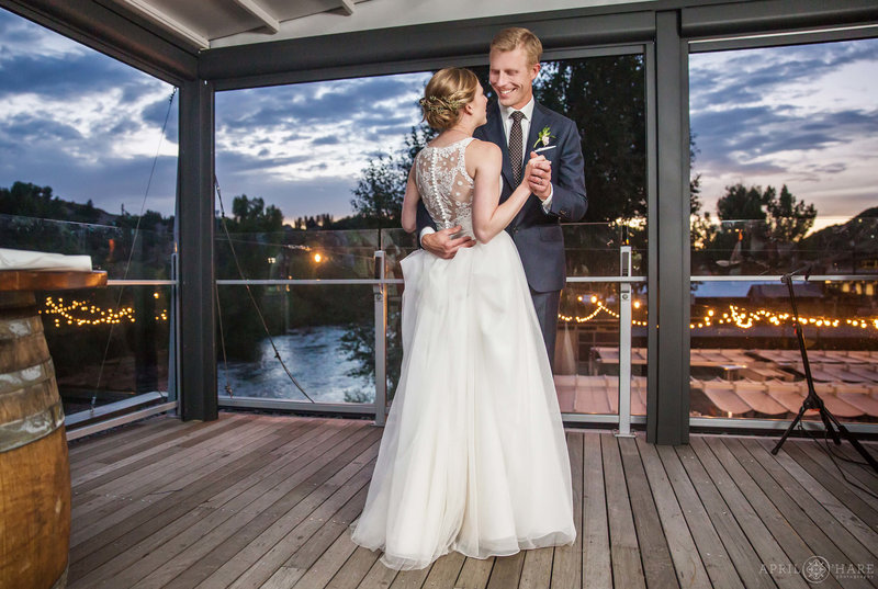 Aurum Restaurant Wedding Reception by The Main Event in Steamboat Springs Colorado
