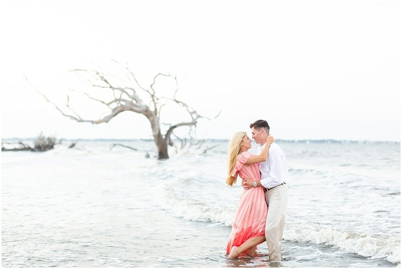 Kelsey and Seth Driftwood Beach Engagement Jekyll Island Photographer_0023