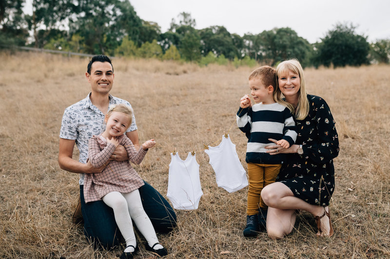 maternity photography melbourne with kids outdoors