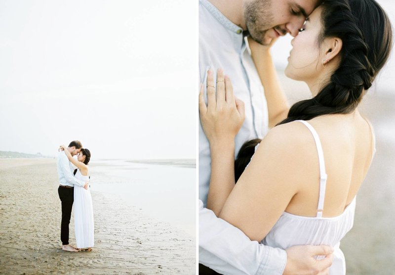 Lin & Marijn | engagement session photography at the beach the netherlands3