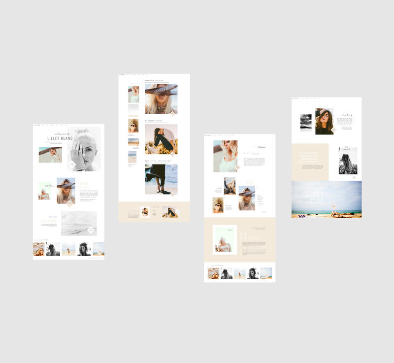 Wedding Photographer ShowIt Template Boho Lifestyle Photographer ShowIt Theme ShowIt Website Design ShowIt Website for Small Business