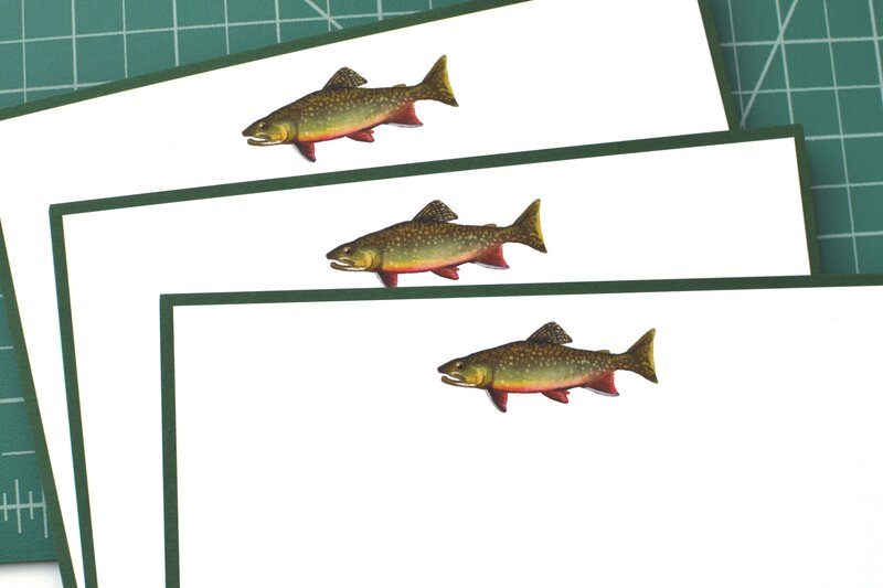 Brook Trout Stationery Set