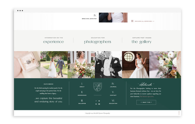 Meredith Ryncarz Photography - Custom Brand and Showit Web Design Website by With Grace and Gold - 24