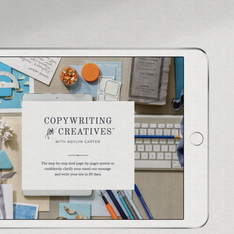 Copywriting for Creatives copywriting course for creative entrepreneurs