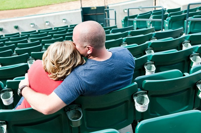 Fargo Red Hawks Engagement session at the stadium by kris kandel (1)