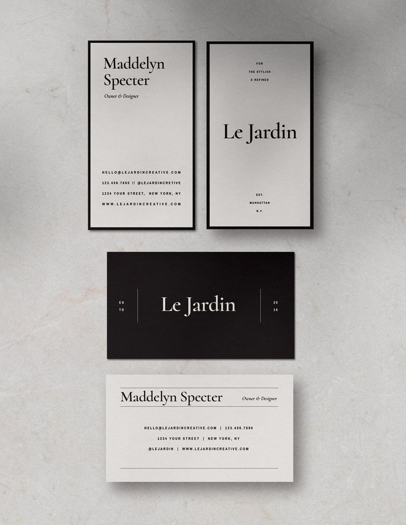 4-Customizable-Stylish-BusinessCard-Design-Jardin-SaffronAvenue1