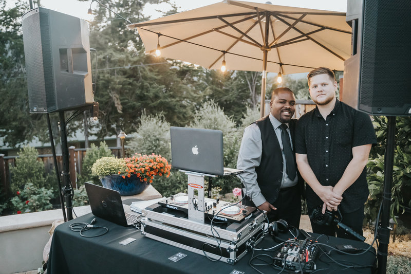 Staff members for DC Events and Design, Monterey's premier wedding videography, photography and DJ company.