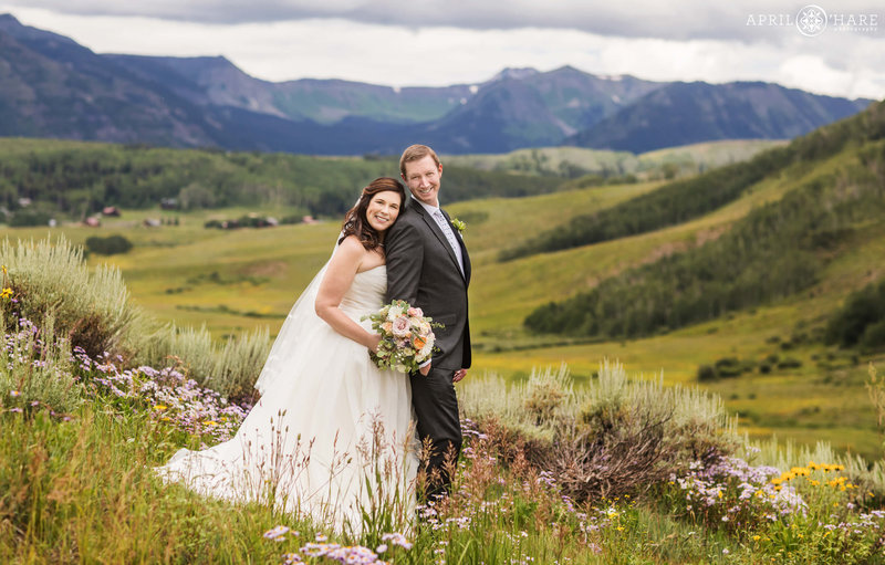 Summer Wedding with Wildflowers in Crested Butte at Mountain Wedding Garden