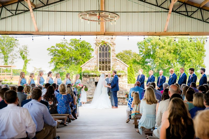 The Covered Pavilion with a gorgeous fireplace at center stage makes for an excellent ceremony site