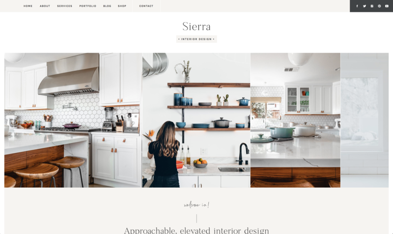 with grace and gold website template sierra