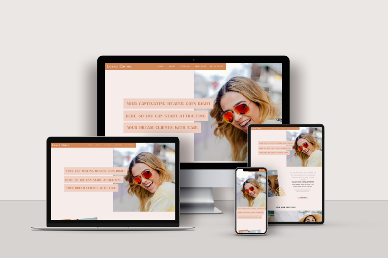 Website Template for Showit - The Freedom Seeker by Becca Luna
