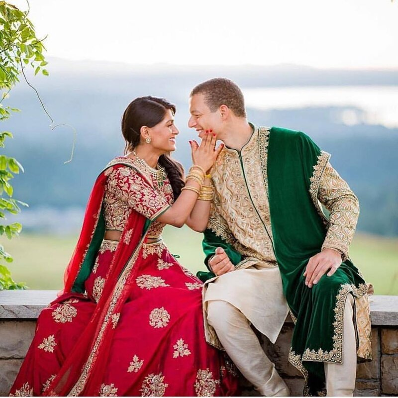 Indian Fusion Wedding couple