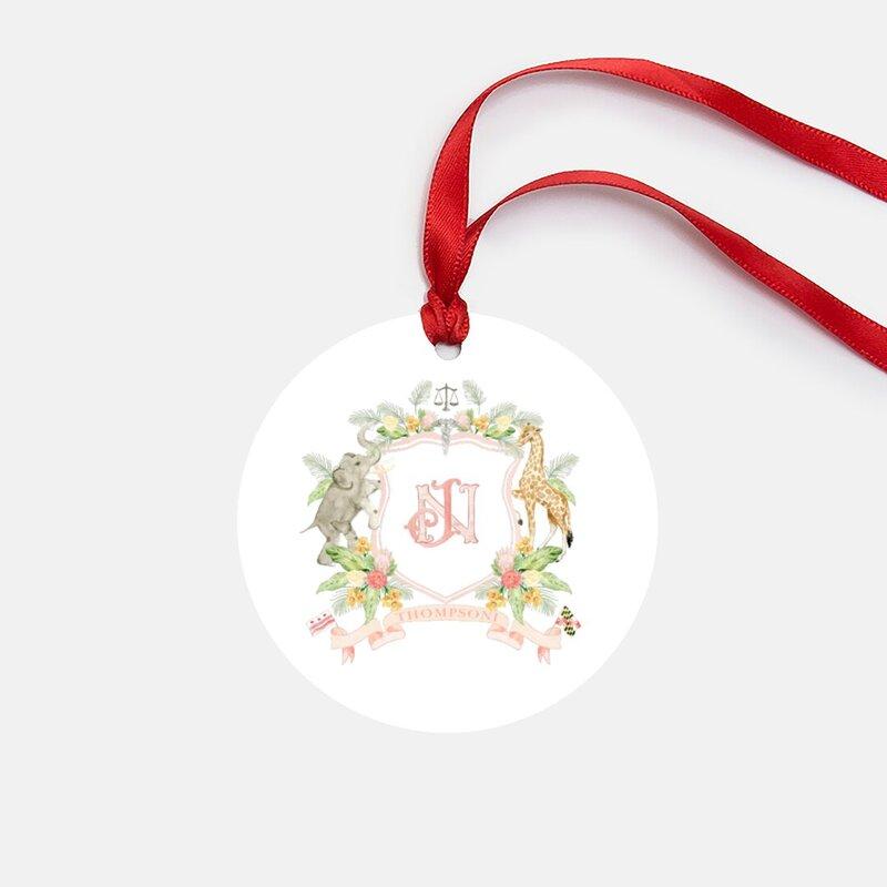 watercolor-crest-Christmas-ornament