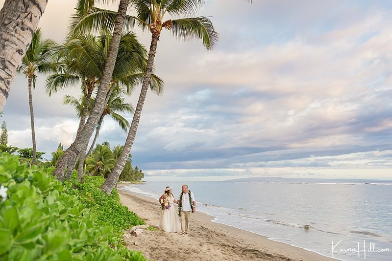 Maui beach  wedding venue Lahaina Shores Beach