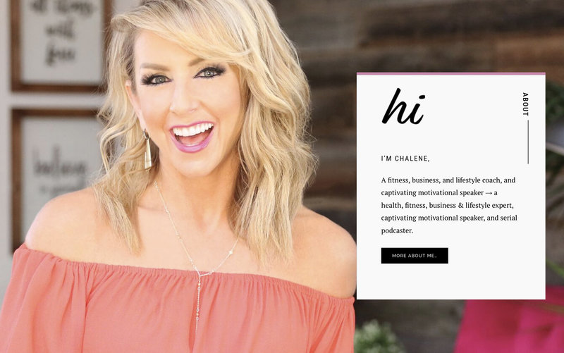 Handcrafting Heartfelt Brand & Website Designs for Female Creatives |  Showit | Showit Templates |Chalene Johnson | by Viva la Violet