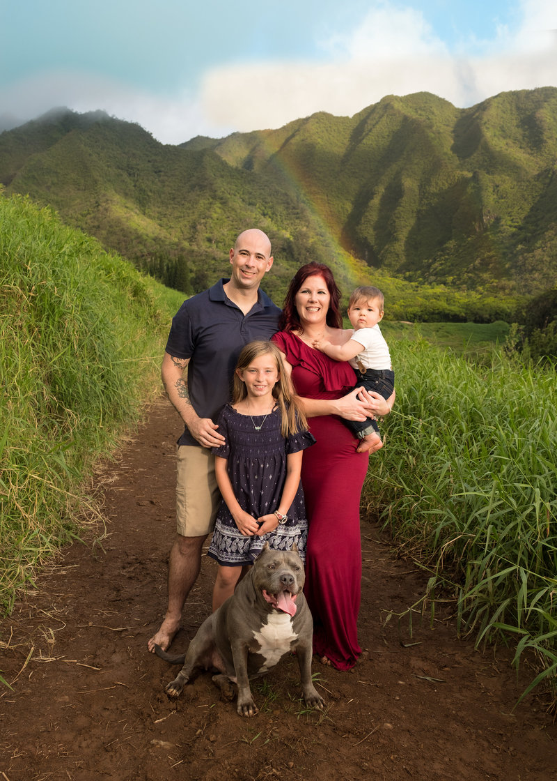 Brooke Flanagan Photography - Oahu, Hawaii - Maternity Photographer - Maternity Photography - Family Portrait on Beach - Brooke Flanagan Photography