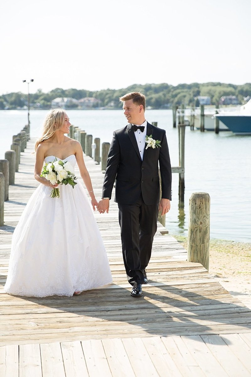 couple walking on pier in NJ | Monique Lockwood