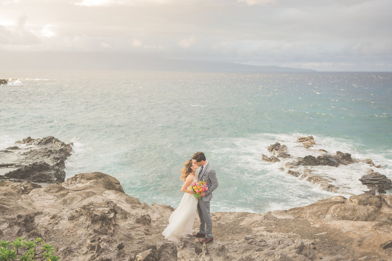 Maui Wedding Photography of  husband and wife