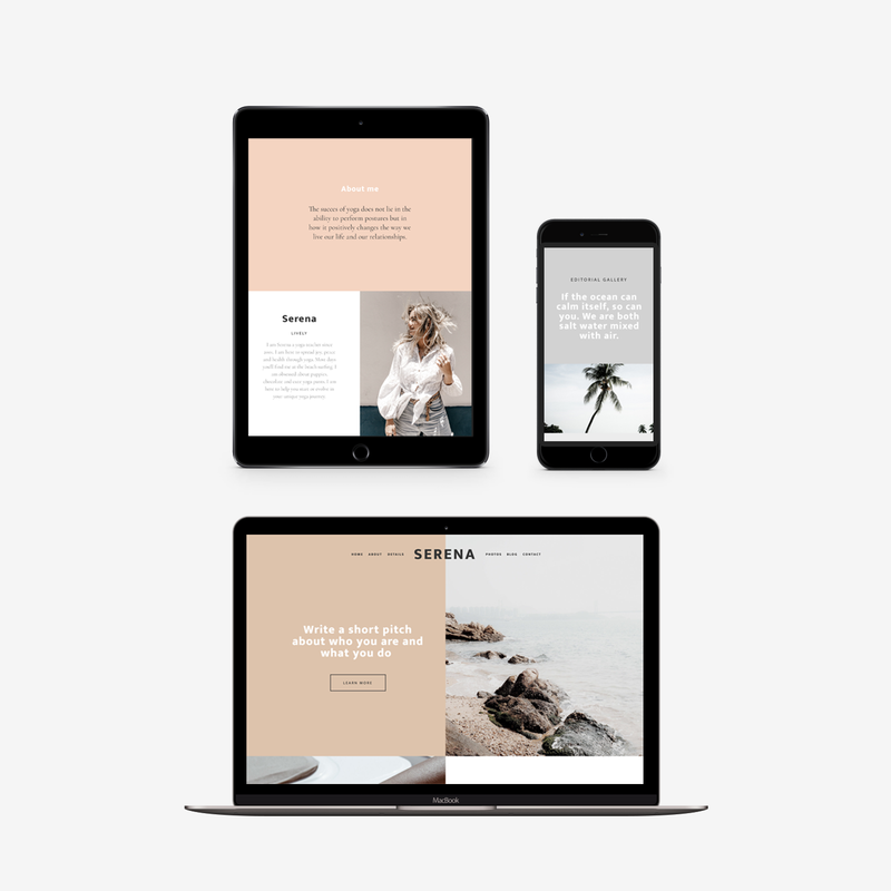 The Roar Showit Web Design Website Template Serena Responsive