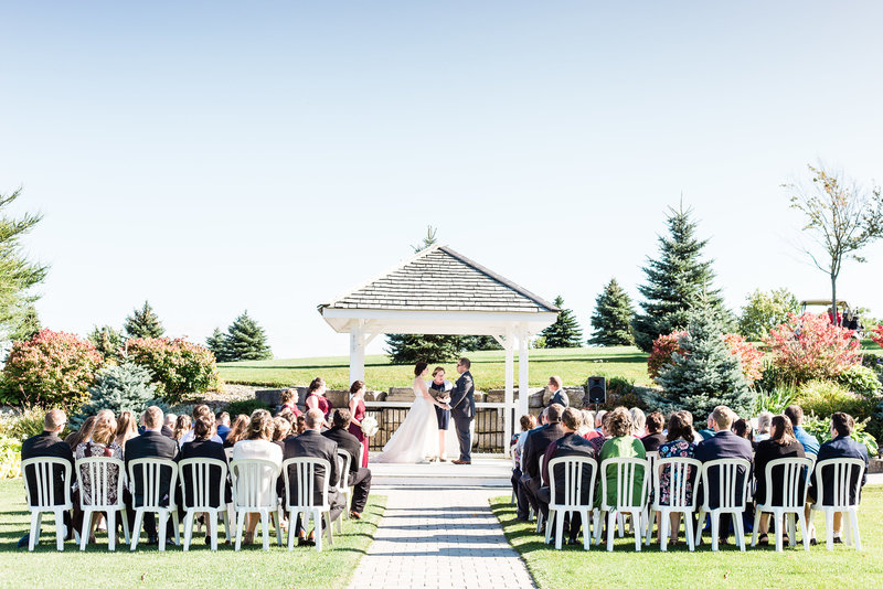 barrie outdoor wedding at a golf course wedding photo