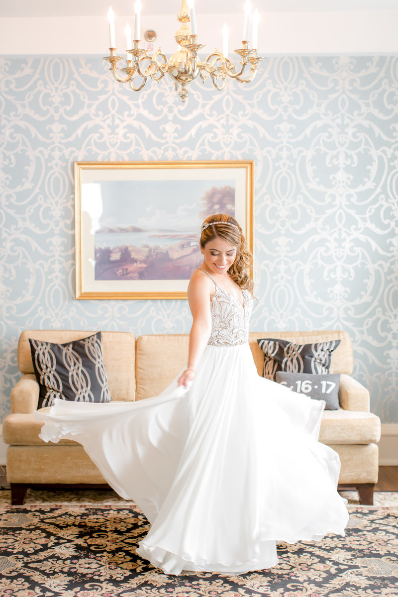 Bridal portrait in Hayley Paige dress