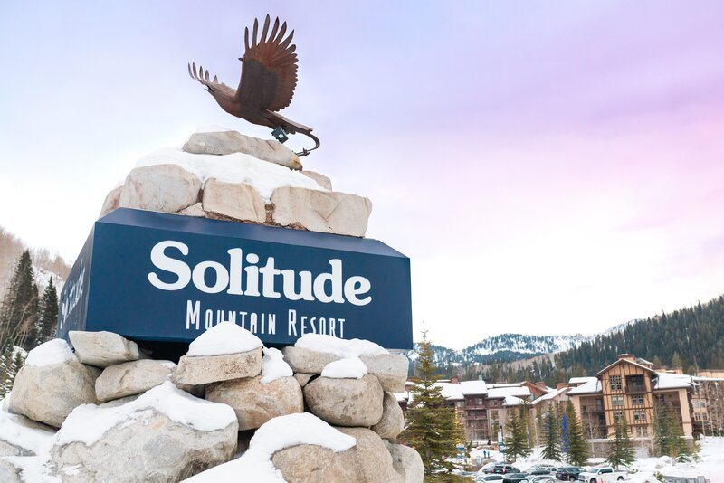 Overlook and Sign at Solitude Mountain Resort