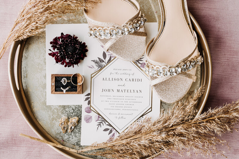 wedding invitations shoes