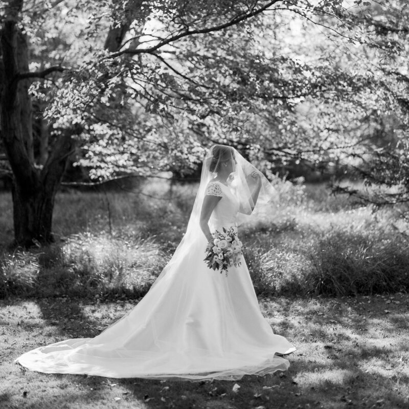 Classic bridal portrait of a morristown bride