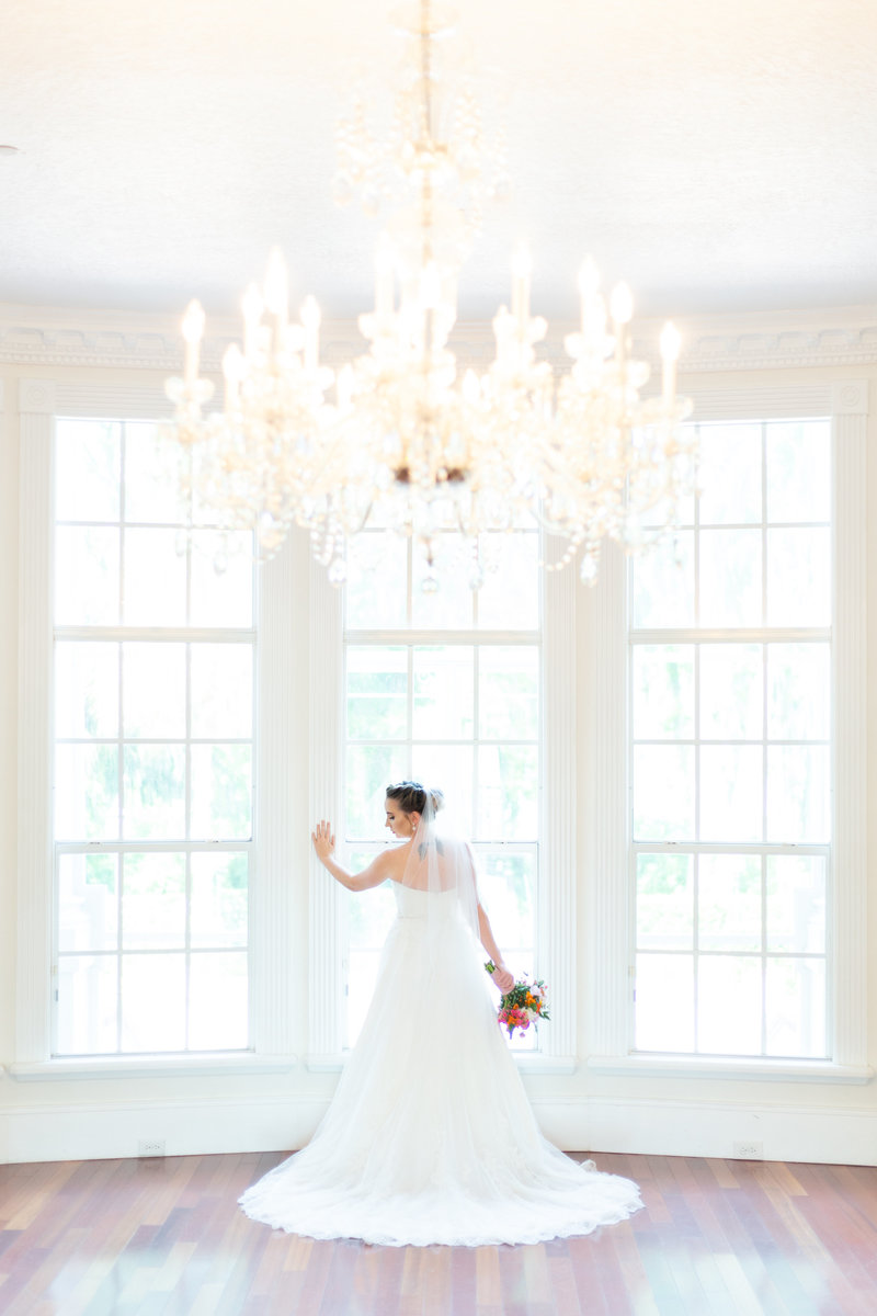 Florida wedding with chandelier
