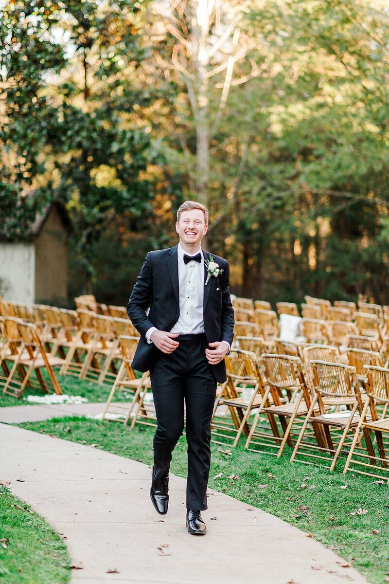 groom walking down the aisle by Knoxville Wedding Photographer, Amanda May Photos