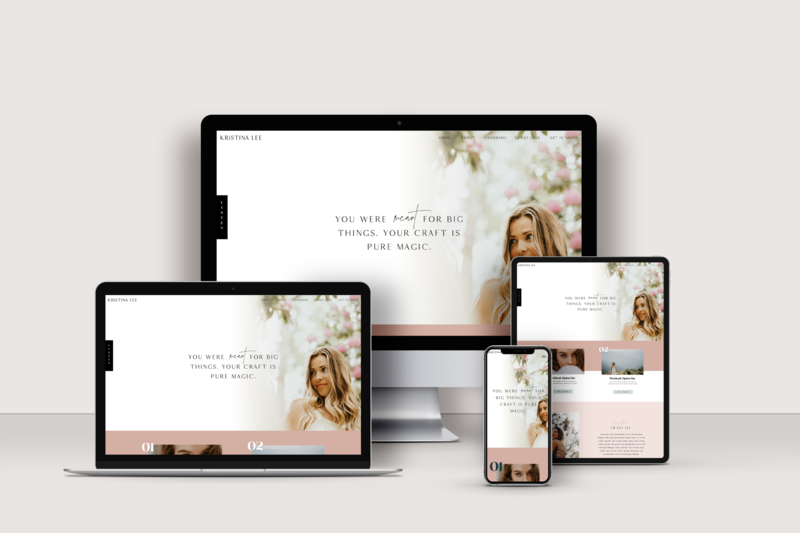 Showit Website Template - The Rich Bitch by Becca Luna