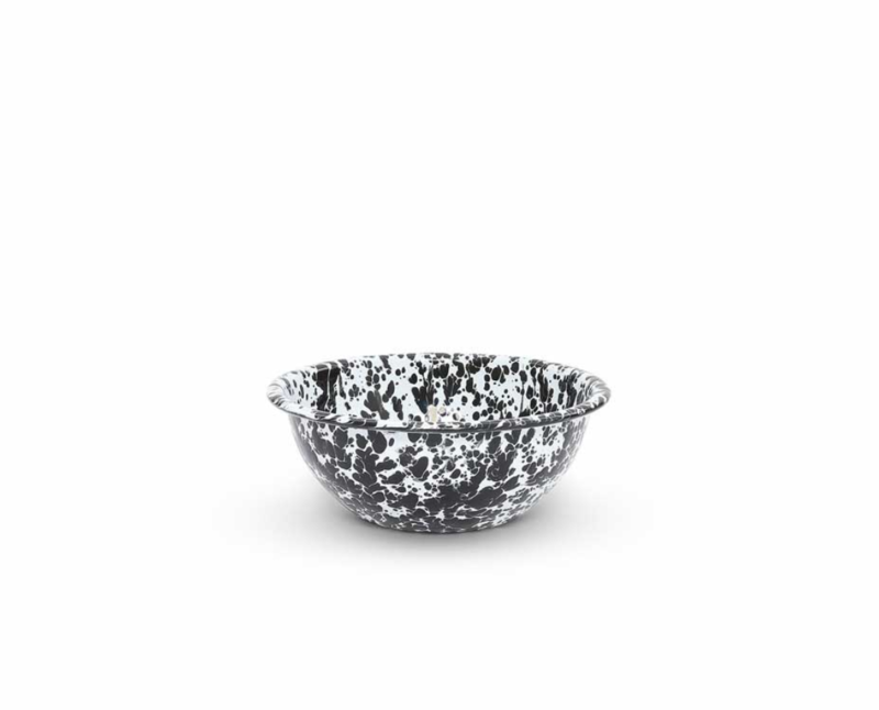 Crow Canyon Black Splatter Cereal Bowl