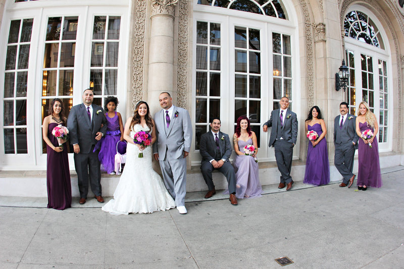 Bridal party in San Francisco, wedding photography