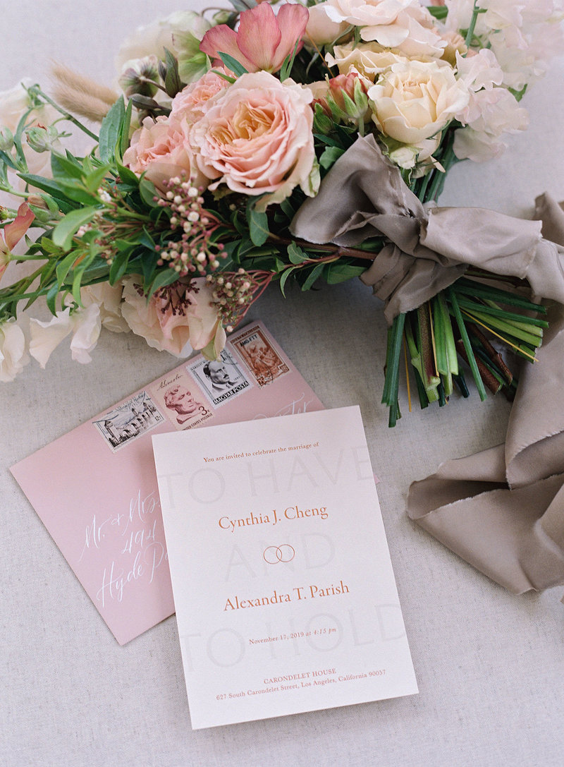 Semi-Custom Invitations -Sacred Vows Collection 2-Piece Suite Editorial