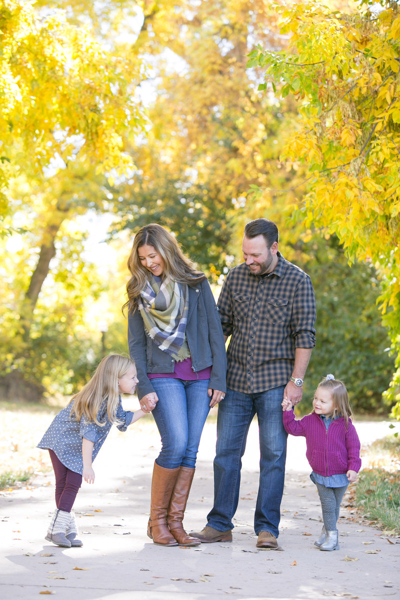Denver family posing during a photography session