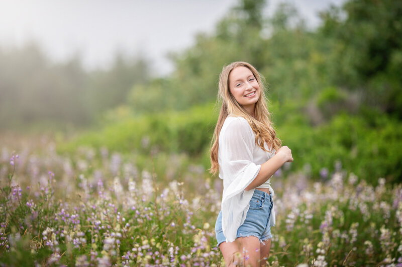 Senior Portrait in a lush Park in Northern California by Parky's Pics Photography
