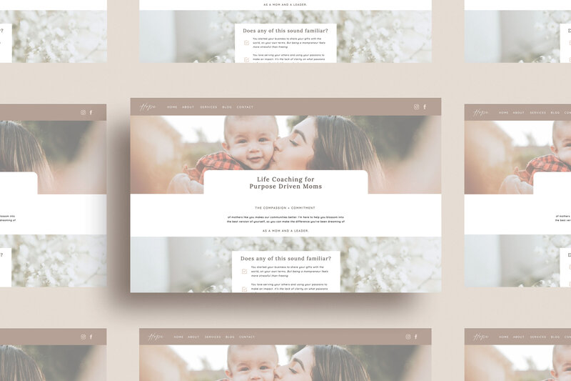 Hope Template Multiple screens mockup