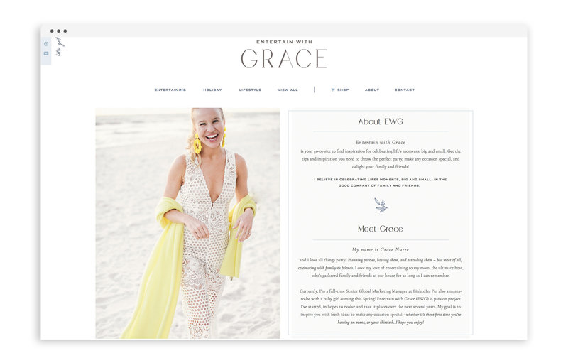 Entertain with Grace - Custom Brand and Showit Web Design by With Grace and Gold - Branding and Web Design for Bloggers - 4