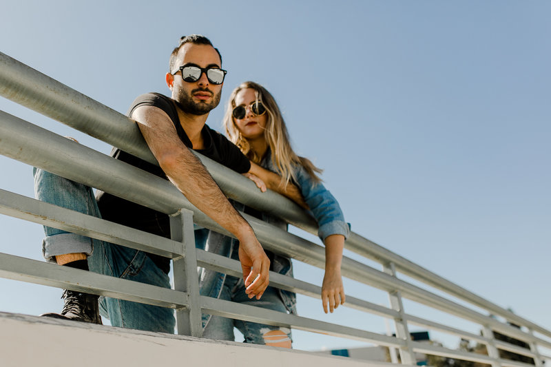 bree and stephen take self portraits in san diego, california
