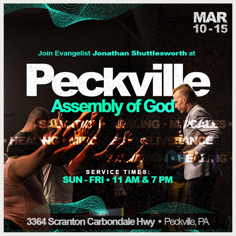 Jonathan Shuttlesworth at Peckville Assembly of God 2019